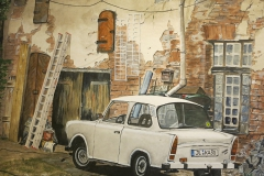 68. Puetsch's Trabant. Aquarell Nov 2013