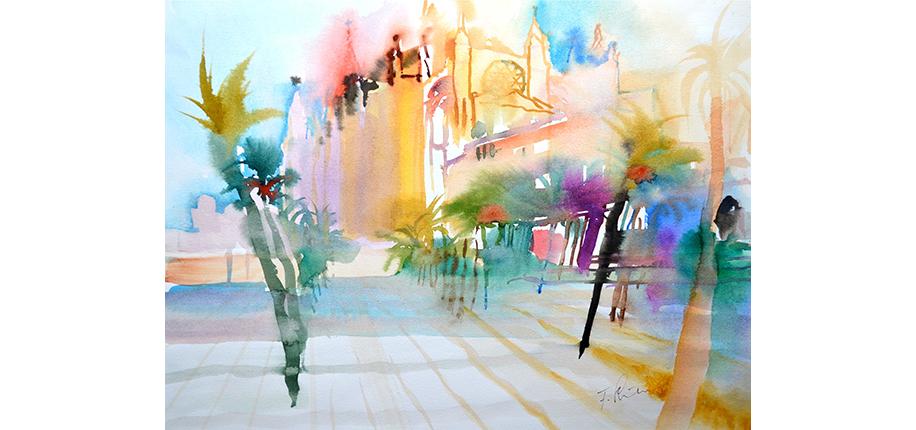 Friedrich Schuber | Die Kathedrale in Palma de Mallorca