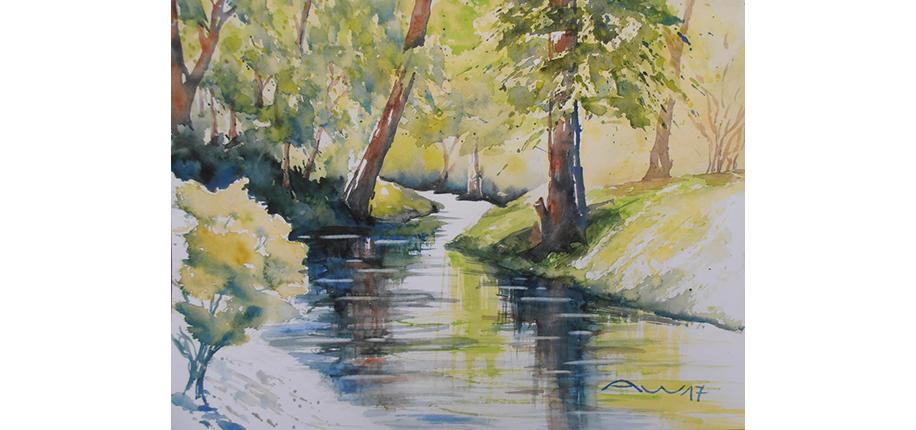 Andrea Wülbern | Spiegelung im Fluss