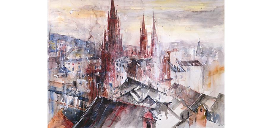 Ortwin Zeidler_Marktkirche Wiesbaden_70x100-n