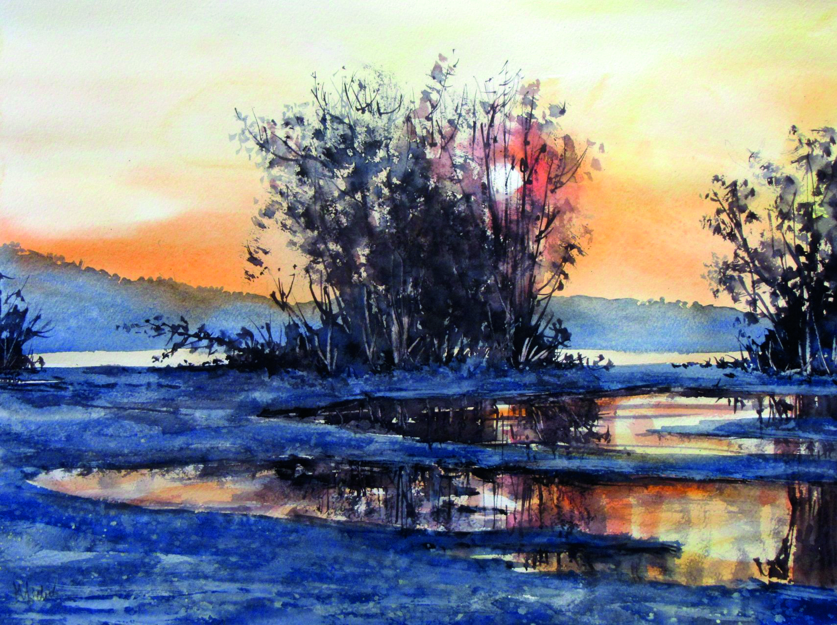 Manfred Sieber | Abend am Fluss