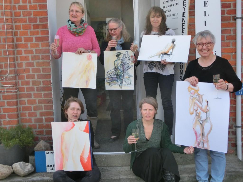 von links nach rechts oben Isabella Kramer, Rosemary Remstedt, Cornelia Brand- Sarsted, unten Petra Just, Tanja Wilking, Gabriele Rinkleff