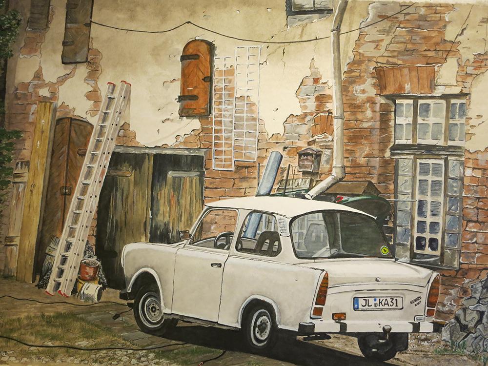 68. Puetsch's Trabant. Aquarell Nov 2013