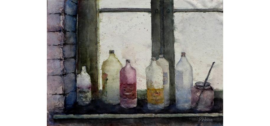 GottfriedWeber_ Lauter Flaschen_50x60-n